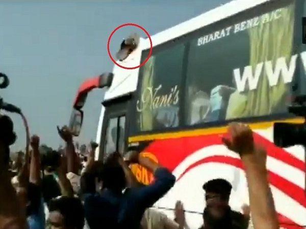 former cm n chandrababu naidu slipper hurled farmer support tdp chief amaravati andhra pradesh marathi news