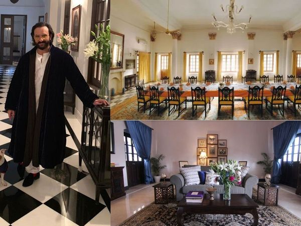 saif ali khan's 150 room pataudi palace is very luxurious and beautiful see pictures inside the bungalow
