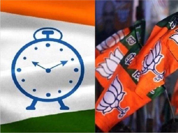 NCP, BJP flags