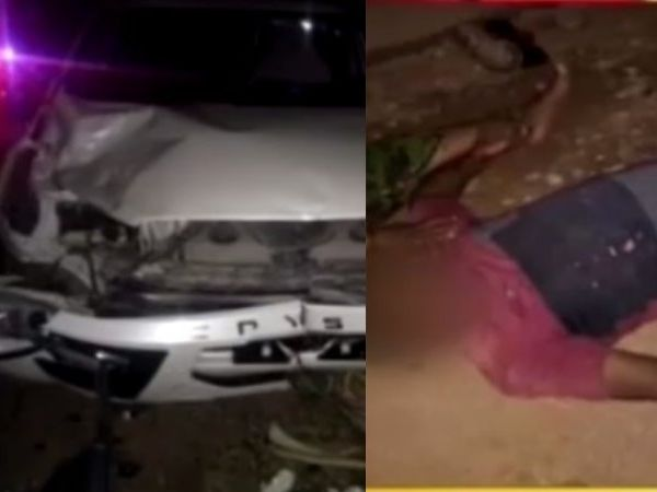 mla car hit pedestrian jaipal yadav car driver booked