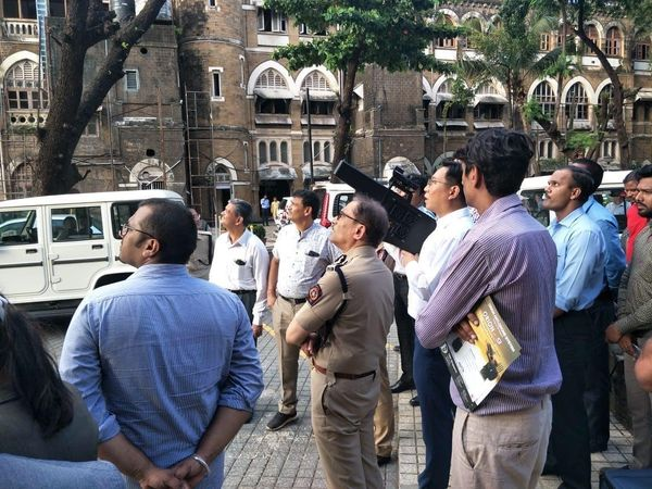 mumbai police drone detection system high alert coast guard