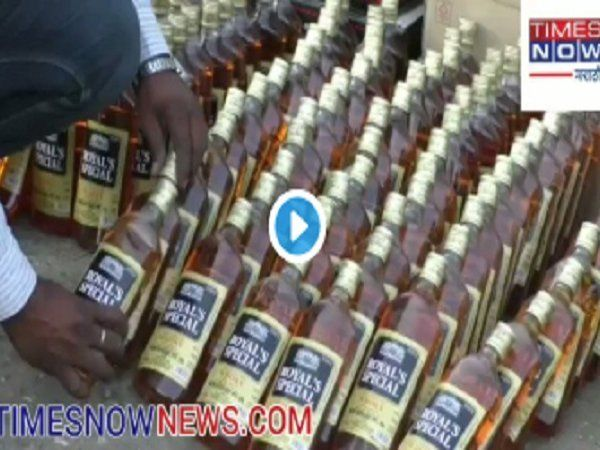 vidhansabha election 2019 liquor stock sized in ahmadnagar  news in marathi